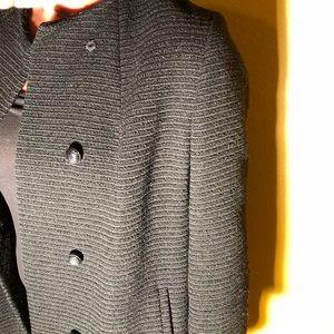 Vintage long black wool coat size 12